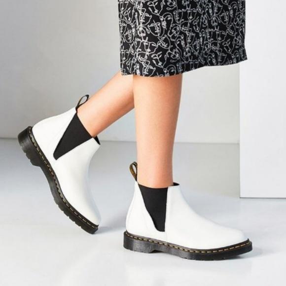 Dr Martens Bianca White Chelsea Boots
